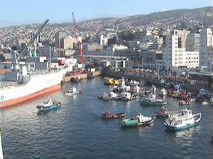 Valparaiso - Hafen vorm Amphitheater
