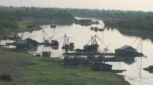 Fischfang zählt zu den Haupterwerbsquellen am Mekong